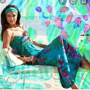 Lilly Pulitzer Shake your tail feathers maxi dress